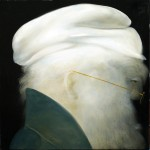 Boina Blanca - óleo sobre lienzo 36 x 36 cm.