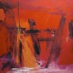 Al rojo vivo 2 oleo sobre lienzo - 160 x 160 cm