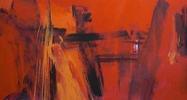 "Al rojo vivo 2 oleo sobre lienzo 160 x 160 cm 270x144 - Julio: Roque Saldías expone ""Al Rojo Vivo"""