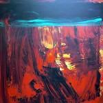 Al rojo vivo 3 oleo sobre lienzo - 160 x 160 cm