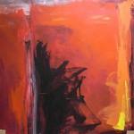 Al rojo vivo 4 oleo sobre lienzo - 160 x 160 cm