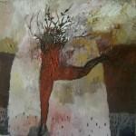 """Arbol oleo sobre lienzo 25 x 25 cm 150x150 - Octubre: Patricia Eyzaguirre expone """"Metamorfosis"""""""