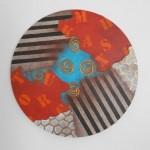 Círculo I acrílico sobre tela 60 cm. 150x150 - Nader Barhumi