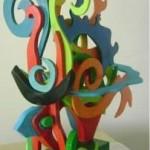 Carmen Letts - ST, escultura en trupán - 50 x 60 x 15 cm