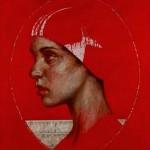 Cristina XXIII acrilico sobre lienzo 83 x 98 cm