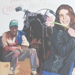 Hugo Alegre Ready to crash and burn óleo sobre lienzo 120 x 140 cm 150x150 - Diciembre: Colectiva de pintura, escultura y dibujo