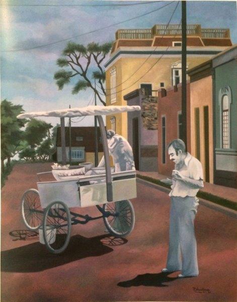 Cevichero - óleo sobre tela, 60 x 80 cm.