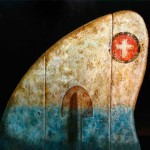 "Insondable XXI oleo y acrilico sobre lienzo 140 x 100 cm 150x150 - Mayo: Hernán Sosa expone ""Mujer Cola de Ballena"""