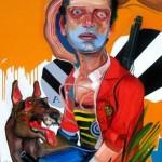 José Luis Carranza - Marte, óleo sobre lienzo - 150 x 90 cm