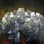 Juego nocturno 2 oleo sobre lienzo - 150 x 150 cm