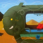 Julio Gómez - Bus elefante verde