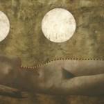 La espera serie Cola de ballena acrilico sobre lienzo 109 x 68 cm