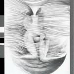 "La llama doble grafito sobre papel 70 x 50 cm 150x150 - Noviembre: Rhony Alhalel expone ""La llama doble"""