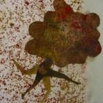 """ST tecnica mixta sobre papel 47 x 50 cm 150x150 - Octubre: Patricia Eyzaguirre expone """"Metamorfosis"""""""
