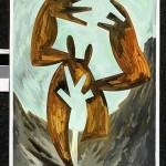 """Telúrico II acrílico sobre papel 70 x 50 cm 150x150 - Noviembre: Rhony Alhalel expone """"La llama doble"""""""