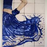 El agua es vida - cerámica, 40 x 60 cm.
