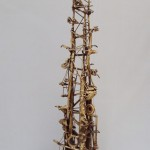 Serie Acumulaciones #2 - Bronce fundido, 88 x 25 x 20 cm.