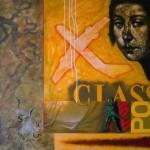 """""""Viaje"""", acrílico sobre lienzo - 120 x 120 cm."""