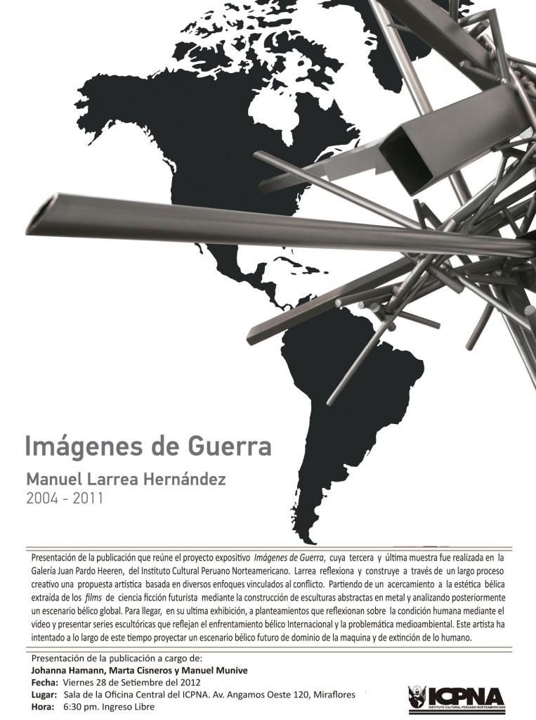 """Larrea Icpna baja 763x1024 - Catálogo """"Imágenes de Guerra"""" de Manuel Larrea"""