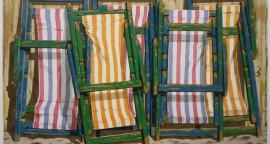 """""""Sillas de Playa"""", serigrafía 39-40, 67 x 46 cm."""