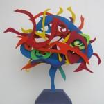 """Carmen Letts. Life posterior. Tecnica mixta sobre mdf y madera. 90x90x10 cm 150x150 - """"Paraíso"""", individual de Carmen Letts"""