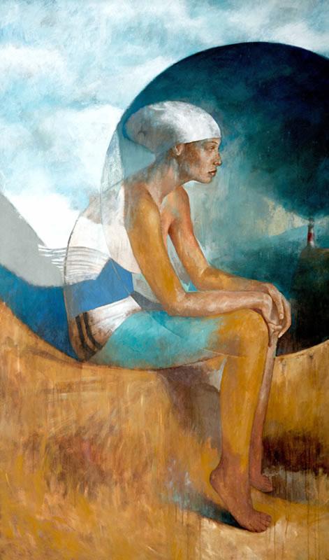 Xtina - acrílico sobre lienzo 171 x 99 cm.