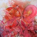 """Yiriane Kahn ECLOSION mixta sobre lienzo 200x200cm 150x150 - """"Eclosión"""" de Yiriane Kahn"""
