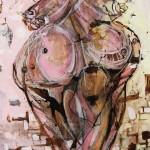 """Yiriane Kahn GRAVEDAD mixta sobre lienzo 200x120cm 150x150 - """"Eclosión"""" de Yiriane Kahn"""
