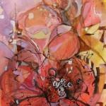 """Yiriane Kahn VeRano mixta sobre lienzo 150x80cm 150x150 - """"Eclosión"""" de Yiriane Kahn"""