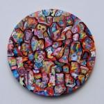 LES AMANTS MAUDITS - óleo sobre lienzo 60 cm. (diámetro)