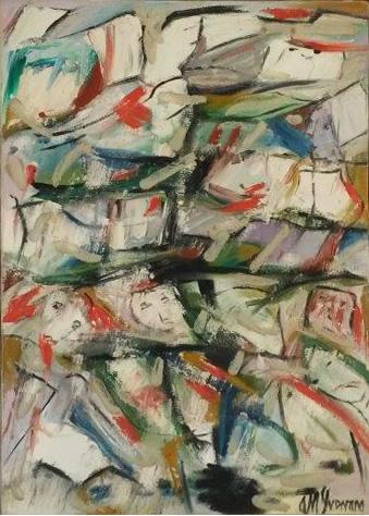 Poemario II - óleo sobre lienzo 34 x 25 cm.