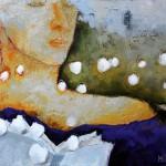 """Al otro lado oleo sobre tela 130 x 100 cm 150x150 - """"Mujer corazón de papel"""" de Mónica Cuba"""