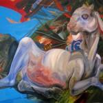 Jose Luis Carranza: Amaltea - óleo sobre tela 90 x 150 cm.