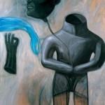 Luis Castellanos: Piel dura - óleo sobre tela 130 x 120 cm.