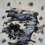 Paolo Vigo: Eros Horror Vacui II - mixta sobre mdf 58 x 58 cm.