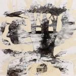 Paolo Vigo: Spirit - mixta sobre mdf 58 x 58 cm.
