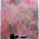 Patricia Eyzaguirre: Sin título 2 - mixta sobre papel 50 x 37.5 cm.