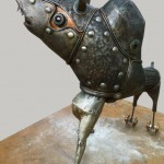 Sandro Capcha: La yaya, la ineludible justicia - metal forjado 40 x 55 x 70 cm.