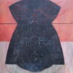 Canto - oleo sobre tela, 120 x 120 cm.