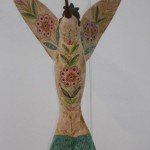 Colibri - ceramica, 50 x 20 x 46 cm.