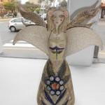 Muñeca II - ceramica, 38 x 28 x 18 cm.
