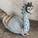 Profugo del mar - Ceramica, 110 x 80 x 42 cm.