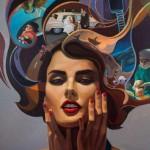 Cabello, óleo sobre tela, 150 x 100 cm.