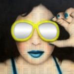 ¡Ahí nos vemos!, 2015. Collage y Acrílico sobre MDF. 110 x 110 cm