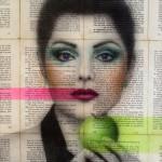 """La conspiración de Eva 2015. Collage y Acrílico sobre MDF. 35 x 30 cm 150x150 - """"Retratos y todo lo que se llama cara"""" de John Chauca"""
