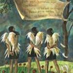 Esta mania de saberme angel, mixta sobre tela, 35 x 25 cm.