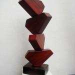 Sincronía - caoba, 78 x 30 x 30 cm.