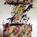 St 4 - collage técnica mixta, 72 x 90 cm.
