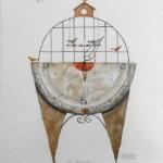 Acuarela III - acuarela sobre papel, 39 x 29 cm.