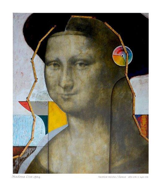 Mona a la medida - tecnica mixta sobre tela, 160 x 140 cm.